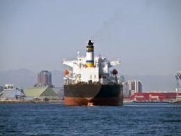 Oil Tanker in Harbor